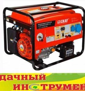 Генератор бензиновый Skat УГБ-6000Е/АВТО, 6,5кВт