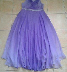 Новое сиренево-лиловое платье в пол, размер 42-46