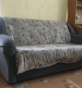 Продам диван-кровать на металлическом каркасе