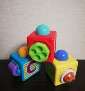Кубики Fisher Price + подарок
