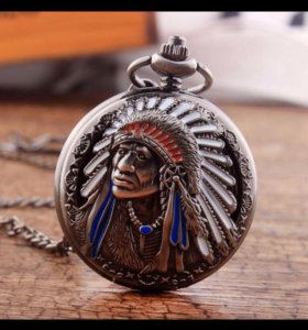 Часы индеец фкэр на цепочке