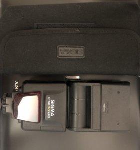 Вспышка камеры Sigma ef-500 DG super Nikon