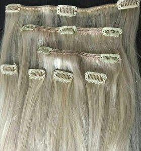 Натуральную волосы HAIR SHOP шатен