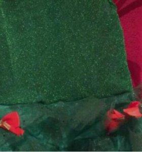 новогодие платиья ёлка