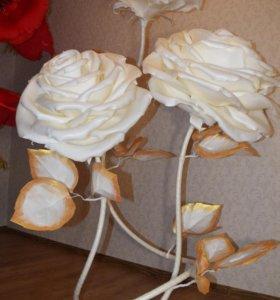 Гигантские цветы — ростовые розы, маки, пионы