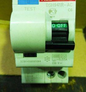 Автоматический выключатель с УЗО.