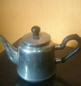 Мельхиоровый заварочный чайник
