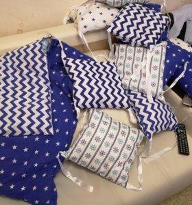 Бортики: подушки и пододеяльник