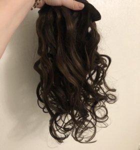 Натуральные волосы (славянка) на заколках