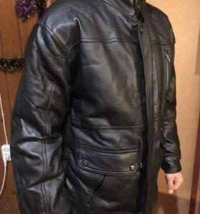 Мужская куртка кож зам!