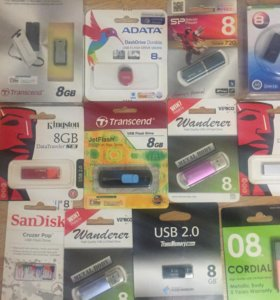 USB флеш карты 8 Gb в ассортименте