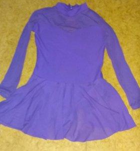 Фиолетовый купальник для танцев