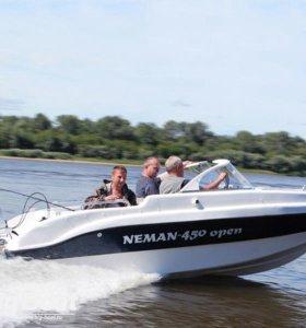 Открытый катер Неман-450 Open