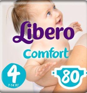 Libero comfort подгузники 4 7-14 кг 80шт