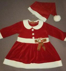 Платье новогоднее 74-80