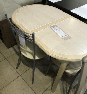 Обеденная группа (стол раскладной и 3 стула)