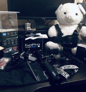 GoPro hero 4 Black + Куча оригинальных допов +mSD