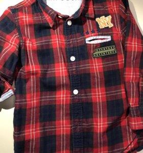 Брендовые рубашки 2-4 года
