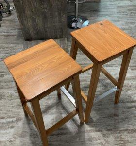 Барные стулья (в наличии 2 шт, 76 см) из кедра