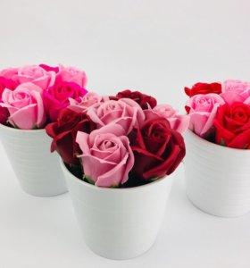 Неувядающие мыльные розы идея подарка