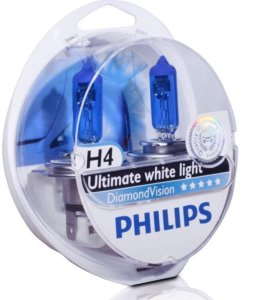 Лампочки Philips H4 Diamond Vision