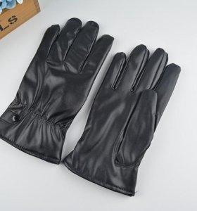 Кожаные мужские перчатки. Распродажа