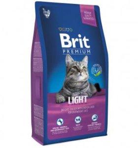 Корм для кошек Brit premium light 8 кг