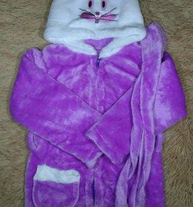 Новый детский плюшевый халат