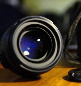 Объектив Nikkor 50mm 1,4G фотоаппарат D5100