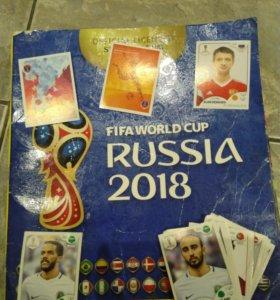 Наклейки футбольные Panini Russia 2018