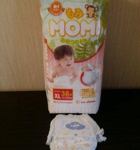 Японские подгузники-трусики Momi XL