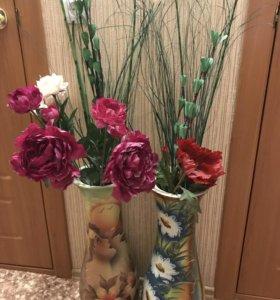 Вазы декоративные для цветов