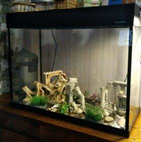 Продам Аквариум AquaPlus LUX 96 литров, цвет Венге