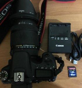 Продам фотоаппарат Canon 70d с Sigma 18-250мм