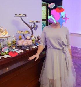 Платье вечернее, подойдёт под свадебное