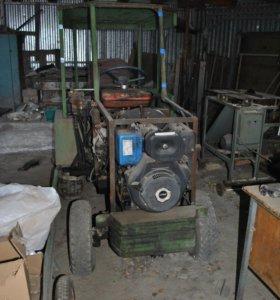 Самодельный мини-трактор ДИЗЕЛЬ