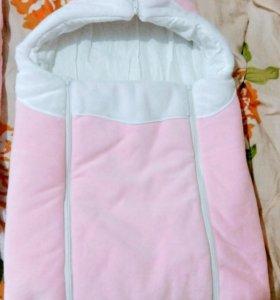Конверт+одеялка+уголок на выписку для девочки