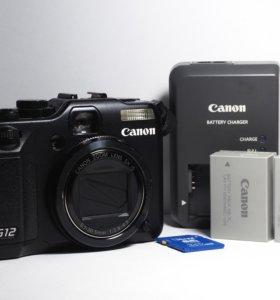 Canon G12 + 2 аккум-ра NB-7L + карта 32Gb +сумочка