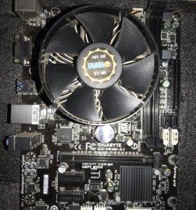 материнская плата Gigabyte GA-H81M-S1 и процессор