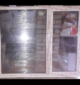Окно ПВХ новое в плёнке