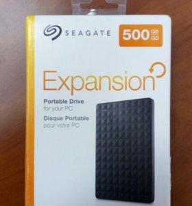 Внешний HDD Seagate Expansion 500Gb с гарантией