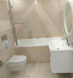 Плитка, натяжные потолки, ванны под ключ