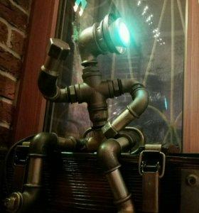 Светильник из водопроводных труб