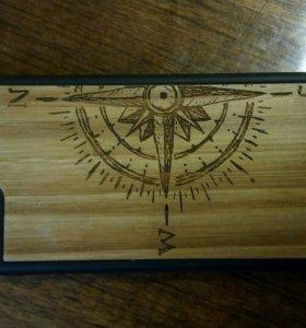 Чехол на iphone 6 с деревянным каркасом