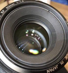 Объектив Canon 50 mm f1,4 Japan