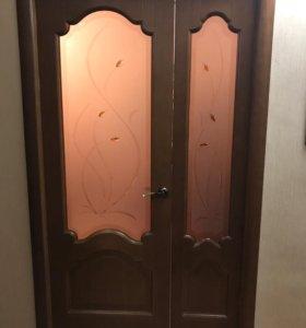 Двери межкомнатные двойные 9т ,однодвер.7т