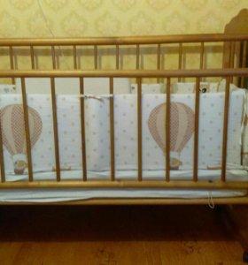 Детская кровать с матрасом из икеа