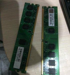 2 плашки оперативная память