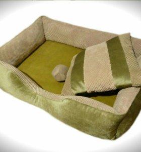 Фисташковый лежак для собак и кошек