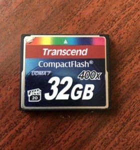 Карта памяти Transcend CF Compact Flash 32 GB